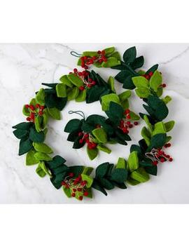 Holiday Felt Garland   Green by The Company Store