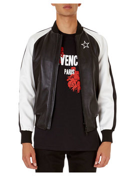 Lambskin Bomber Jacket With Contrast Sleeves by Givenchy