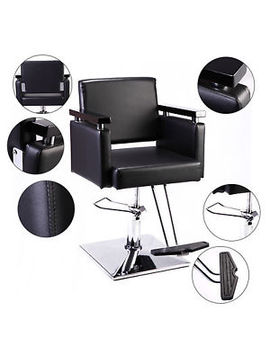 Hair Beauty Equipment Hydraulic Barber Chair Modern Black Styling Salon Haircut by Betterhomechoice