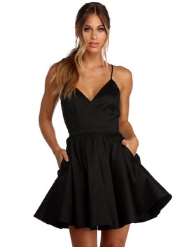 Cheyenne Taffeta Skater Dress by Windsor
