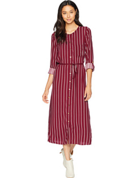 Cindy Stripe Midi Shirtdress by Juicy Couture