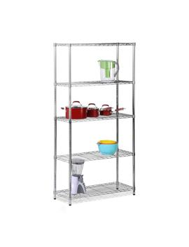 72 In. H X 36 In. W X 14 In. D 5 Shelves Steel Shelving Unit In Chrome by Honey Can Do