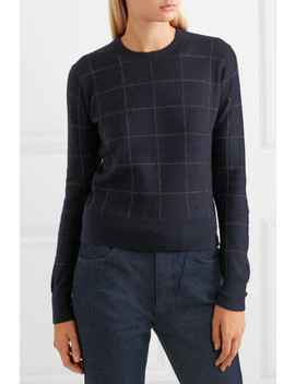 Checked Cashmere Sweater by Vince