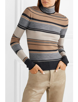 Ribbed Striped Merino Wool Turtleneck Sweater by Acne Studios