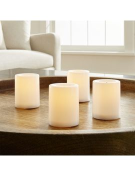 Flameless White Votive Candles With Timer, Set Of 4 by Crate&Barrel