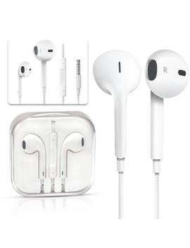 White Earphones Earbuds Headphone Mic For Apple Ear Pods I Phone 5 5s 6s 6 Plus by Unbranded