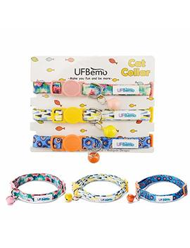 Uf Bemo Breakaway Cat Collar Customized Cat Collars With Bell 3 Pack Adjustable Strap With Safety Buckle And Heavy Duty Nylon Collar For Small Dog Or Cat by Uf Bemo