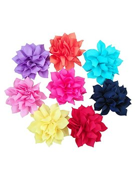 Pet Show Dog Charms Flower Collar Accessories For Cat Puppy Collars Dogs Bowtie Grooming Pack Of 8 by Pet Show