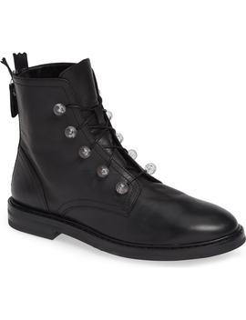 Lucite Knob Combat Boot by Agl