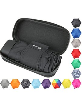 Small Mini Umbrella With Case. Light Compact Design Makes It Perfect For Travel (Black) by Vumos