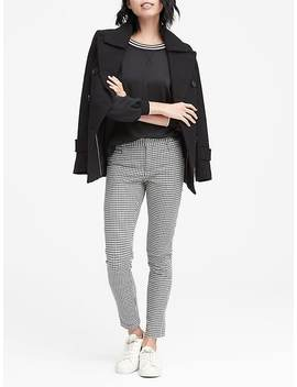 Petite Sloan Skinny Fit Houndstooth Ankle Pant by Banana Repbulic