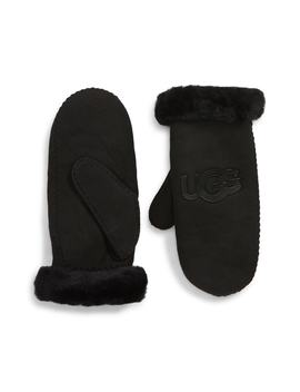 Ugg® Logo Genuine Shearling Mittens by Ugg® Collection