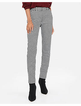 Mid Rise Houndstooth Skinny Pant by Express
