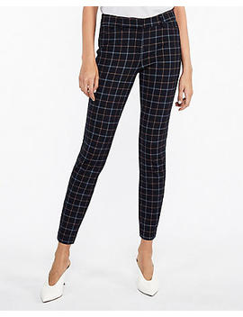 Mid Rise Clean Ponte Plaid Skinny Pant by Express