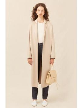 Cashmere Narrow Buttonless Coat by Mansur Gavriel
