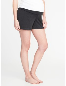 Maternity Rollover Waist Yoga Shorts by Old Navy