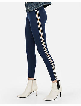 High Waisted Side Stripe Supersoft Leggings by Express