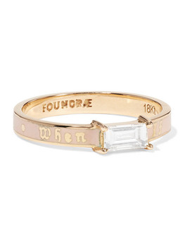 If Not Now Then When 18 Karat Gold, Diamond And Enamel Ring by Foundrae