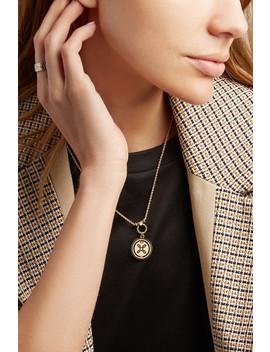 True Love 18 Karat Gold, Diamond And Enamel Necklace by Foundrae