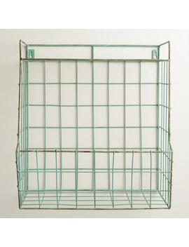 Aqua Braedyn Wire Wall Storage With Shelf by World Market