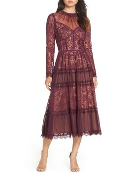 Embroidered Lace Dress by Tadashi Shoji