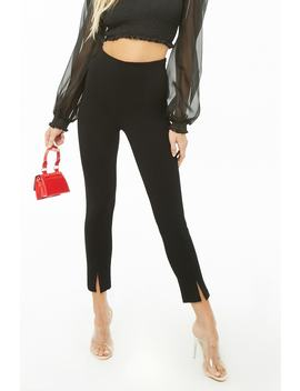 Vented Skinny Pants by Forever 21