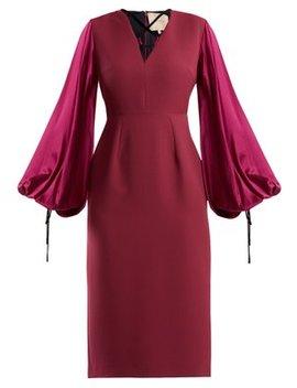 Darya Blouson Sleeve Crepe Dress by Roksanda