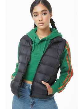 Stand Collar Padded Vest by Forever 21