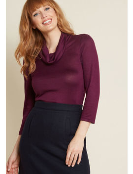 Sample Simplicity Knit Top In Plum Purple by Modcloth