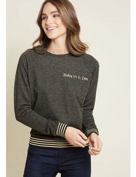 Friday I'm In Love Embroidered Pullover by Modcloth