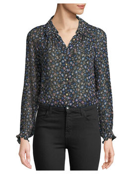 Zelma Floral Button Front Top by Rebecca Taylor