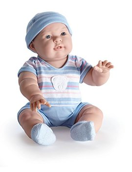 """Jc Toys Lucas 18"""" Baby Doll In Blue Stripes by Jc Toys"""