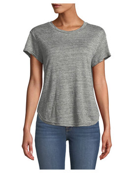 Classic Heathered Linen Crewneck Tee by Frame