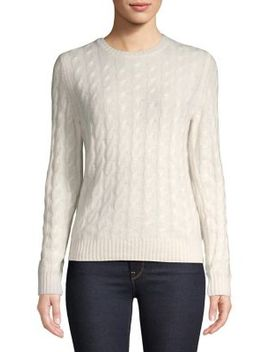 Cable Knit Cashmere Sweater by Lord & Taylor
