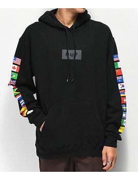 Huf Flags Black Hoodie by Huf