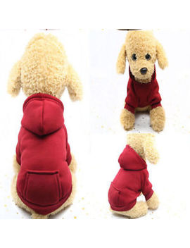 Dog Hoodie Warm Winter Coat Sweater Clothing Pet Puppy Knitwear Costume Jumper by Unbranded
