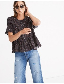 Studio Ruffle Hem Top In Starry Night by Madewell