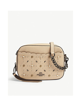Studded Leather Camera Cross Body Bag by Coach