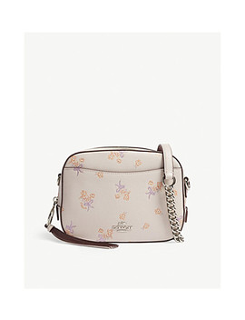 Leather Camera Cross Body Bag by Coach