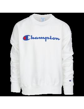Champion Reverse Weave Graphic Fleece Crew by Foot Locker