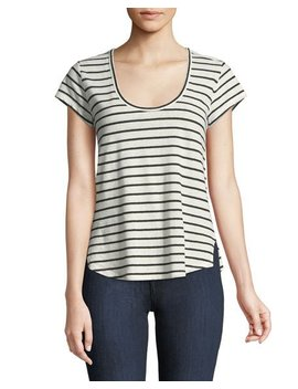 Navigate Easy Striped Scoop Neck Tee by Neiman Marcus