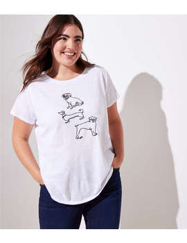 Loft Plus Embroidered Dog Tee by Loft