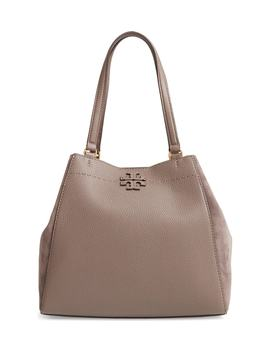 Mc Graw Leather & Suede Satchel by Tory Burch