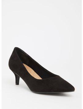 Black Pointed Kitten Heel (Wide Width) by Torrid