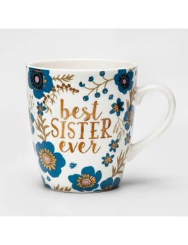 27oz Porcelain Best Sister Ever Mug White/Blue   Threshold™ by Threshold™