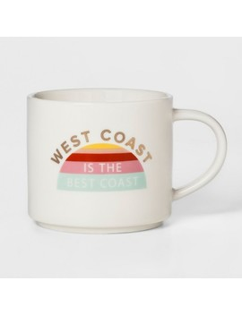 16oz Porcelain West Coast Is The Best Coast Mug White   Threshold™ by Threshold™