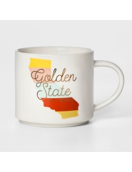16oz Porcelain Golden State Of Mind Mug White   Threshold™ by Threshold™