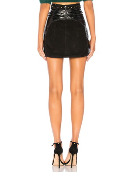 belted-mini-split-skirt by understated-leather