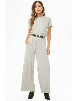 Keyhole Wide Leg Jumpsuit by Forever 21
