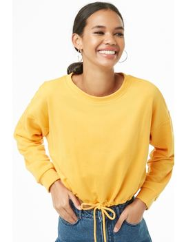 French Terry Drawstring Pullover by Forever 21